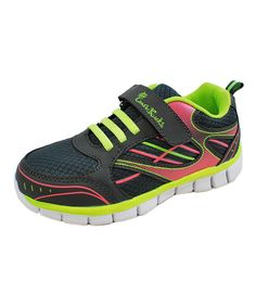 Dark Gray & Green Line Sneaker