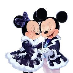 Mickey and Minnie Mouse Mickey Mouse Art, Mickey Love, Mickey Mouse Wallpaper, Mickey Mouse Christmas, Mickey Mouse And Friends, Disney Christmas, Disney Wallpaper, Merry Christmas, Film Disney