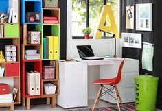 #Energía y #color van de la mano, ¡simpre! Agrégale más vida y #colores a tu lugar de #trabajo. #HomeAndOffice #Escritorios #Silla #Rojo #Mesa #Creadores