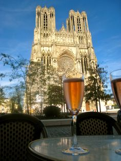 champagne in Reims...A great place to tour the place when champagne is made.