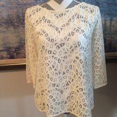 Cream Ann Taylor Loft NWOT top NWOT top lace never worn. Great spring item size medium petites lowest price Ann taylor loft Tops Blouses