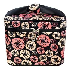 HOYOFO Women Portable Travel Cosmetic Bags with Brush Holder Make Up Bags,Flower >>> Read more reviews of the product by visiting the link on the image.