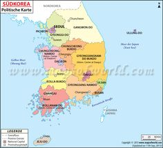 political map of south korea helps the user in getting a clear idea about the various parts of south korea map shows international boundary