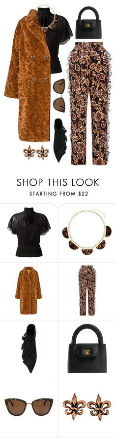 """""""Burnt Ember"""" by silhouetteoflight ❤ liked on Polyvore featuring RED Valentino, Miss Selfridge, Rodarte, J.W. Anderson, Chanel, Quay and Renoir"""