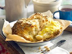 Damper with Rosemary Salt Crust recipe - New Idea Magazine - Lifestyle Crust Recipe, Lunch Recipes, Macaroni And Cheese, Biscuits, Salt, Turkey, Yummy Food, Dinner, Breakfast