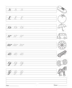 good handwriting alphabet for boys