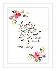 Walt Disney Quote, Watercolour Print, Famous Quote, Inspirational Quote, Handlettering Art, Typography Art, Brush Calligraphy Print by BreezyBirdGoodies on Etsy