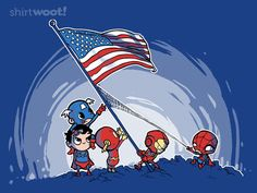 """Too cute!  """"Raising the Flag"""" shirt woot 6.15.13"""
