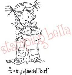 Stamping Bella Unmounted Rubber Stamp Sprout With Sentiment