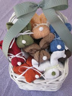 """Basketful of Boo Boo Bunnies Great Baby by sewcuteboutique2010. :) I used to use these when my kids were little. Added the """"Little Bunny Foo Foo"""" song to make it all better. :)"""