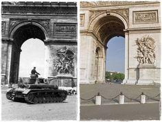 "Francia, Paris.- sfilata di Waffen SS Division ""LSSAH"" (Leibstandarte-SS Adolf Hitler), Panzer IV(Arc de Triomphe)"