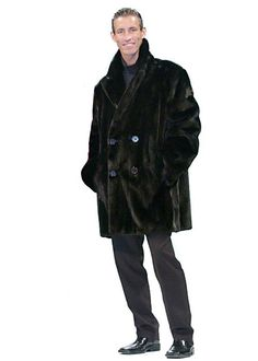 Shop for Mens Coats & Jackets in Mens Clothing. Buy products such as Brioni Mens Double Breasted Suede Leather Shearling Jacket X-Large (IT Grey at Walmart and save. Mens Winter Fashion Jackets, Winter Outfits Men, Winter Jackets, Outfit Winter, Winter Clothes, Mink Jacket, Mens Fur, Jacket Style, Outerwear Jackets