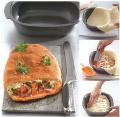 Recette : Calzone This is an easy recipe to make with the Ultra Pro and will delight the whole family! Ingredients: - Pizza dough: 20 g of baker's yeast, 150 ml of warm water, 25 ml of . Tupperware Recipes, Microwave Recipes, Pizza Sandwich, Pizza Recipes, Cooking Recipes, My Favorite Food, Favorite Recipes, Tupperware Consultant, Pro Cook