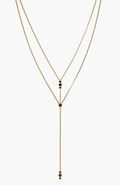 Vince Camuto Crystal Accent Layered Y-Necklace available at #Nordstrom