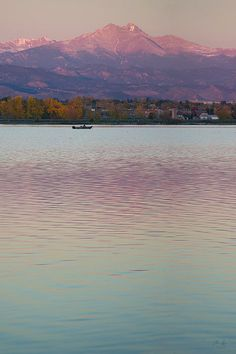 Twin Peaks from Union Reservoir lake, Longmont, Colorado - http://fineartamerica.com/featured/longs-peak-2-aaron-spong.html