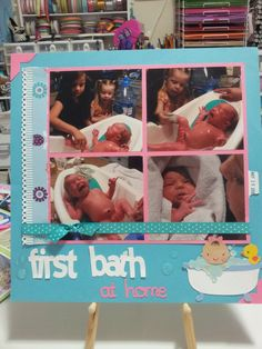 Baby scrapbook Album First bath