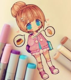 For those going back to school/work after the holidays I hope you can have fun and do your best and hopefully you enjoyed the holidays (≧∇≦)/ It feels like forever since I did a copic drawing ⊂((・▽・))⊃ I got more snacks and bubble tea today yay~ Copic Drawings, Anime Drawings Sketches, Anime Sketch, Kawaii Drawings, Manga Drawing, Manga Art, Cute Drawings, Anime Art, Drawing Art