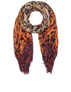 Dip Dye Leopard Stole