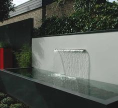 Elegant Contemporary Water Features All About Plants And Planters Freestanding Contemporary Water Yard Water Fountains, Wall Fountains, Contemporary Water Feature, Plant Wall Diy, Small Water Gardens, Garden Water, All About Plants, Water Walls, Modern Backyard