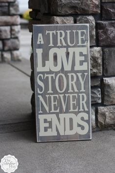 A True Love Story Never Ends  Romantic  Wedding by thestickerhut, $45.00
