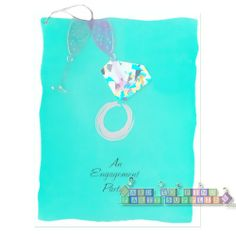 Bridal Shower Diamond Engagement Party Invitations w/ Env. (8ct) || Hard To Find Party Supplies