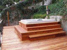 Small Backyard Design With Hot Tub Lovely Hot Tub Idea On Multilevel Deck Design Backyard Deck Hot Tub Gazebo, Hot Tub Backyard, Gazebo Pergola, Jacuzzi Outdoor, Backyard Ideas, Patio Ideas, Outdoor Ideas, Backyard Landscaping, Whirlpool Deck
