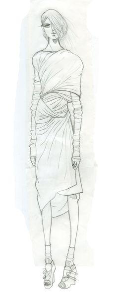 Fashion Sketchbook - fashion design illustration; dress drawing; fashion sketch; fashion portfolio