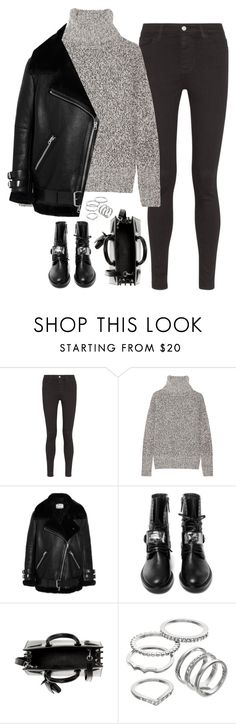 """Untitled#4170"" by fashionnfacts ❤ liked on Polyvore featuring AG Adriano Goldschmied, Theory, Acne Studios, Casadei, Yves Saint Laurent and Apt. 9"