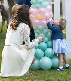 Catherine Duchess of Cambridge and Princess Charlotte of Cambridge attend a children's party for Military families during the Royal Tour of Canada on...