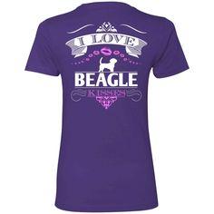 I LOVE BEAGLE KISSES - BACK DESIGN - Next Level Ladies' Boyfriend Tee