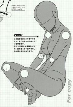 Base to draw anime and manga girl