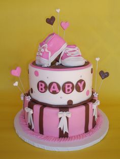 Baby Shoes Baby Shower Cake