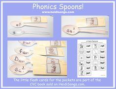 Common Core Literacy Centers: Phonics Spoons!