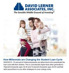 Millennial parents know what it's like to start adult life saddled with high student loan debt  - 56 percent of people aged 18 to 29 have put off major life events like getting married, purchasing a car or home, or saving for retirement, because of student debt.