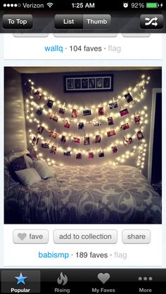A really cute way to decorate your dorm room that's easy to do.