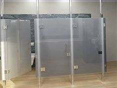 Ceiling Hung Toilet Partitions Allow Easy Cleaning With