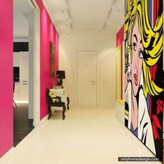 Modern Day Pop Art Interior In Creating Personal Residence - http://www.onlyhomedesign.com/houses/modern-day-pop-art-interior-in-creating-personal-residence.html