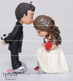 Topper for Grooms Cake Soccer Wedding, Trendy Wedding, Dream Wedding, Wedding Shoes, Fondant People, Soccer Cake, Fondant Toppers, Wedding Crafts, Cake Toppings