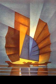Rayon de lumière by Louis TOFFOLI: Lithographie Originale ~Repinned Via Cathy Perez
