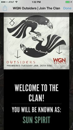 The outsiders wgn  Apparently my name is Sun Spirit
