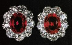 Queen Mary's Cluster Earrings. King George V gave these earrings to his wife in 1926 for her 59th birthday.