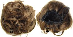 Popular Curly Short Hair Buns Drawstring Synthetic Hair Extension in color 6#