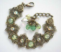Touch of Spring Glass Opal Bracelet on Wanelo