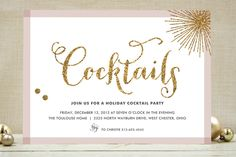 Im so loving these invites!: Glitter Bling Holiday Party Invitations by Carrie  @Minted