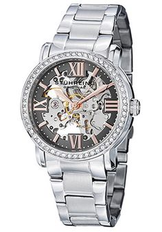 Women's Lady Consul Diamond Gunmetal Dial Stainless Steel
