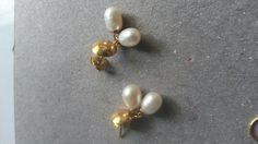 Aretes de perlas cultivadas c/mariposa