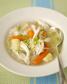 Chicken and Rice Soup | Martha Stewart Living - Good for cooler weather meals and for any time you aren't feeling well.