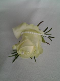 ivory rose and pearl decoration