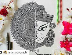 Lord Ganesha Paintings, Ganesha Art, Ganesha Sketch, Doodle Art Drawing, Mandala Drawing, Art Drawings, Mandala Art Lesson, Mandala Artwork, Tattoo Coloring Book
