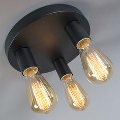 Plafón FACIL 3 negro #iluminacion #decoracion #interismo